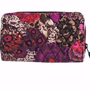 Vera Bradley accordion wallet pink purple floral